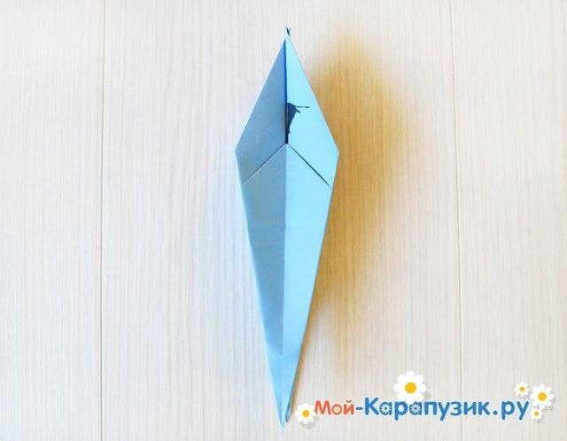 Поделка журавля из бумаги - фото 17