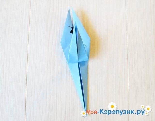 Поделка журавля из бумаги - фото 18