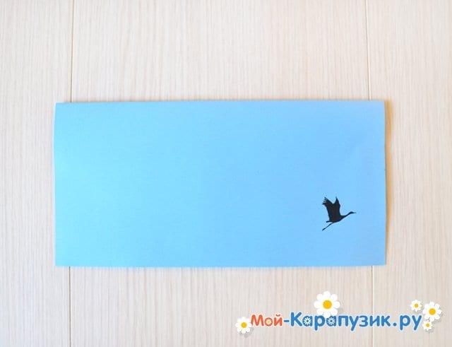 Поделка журавля из бумаги - фото 2