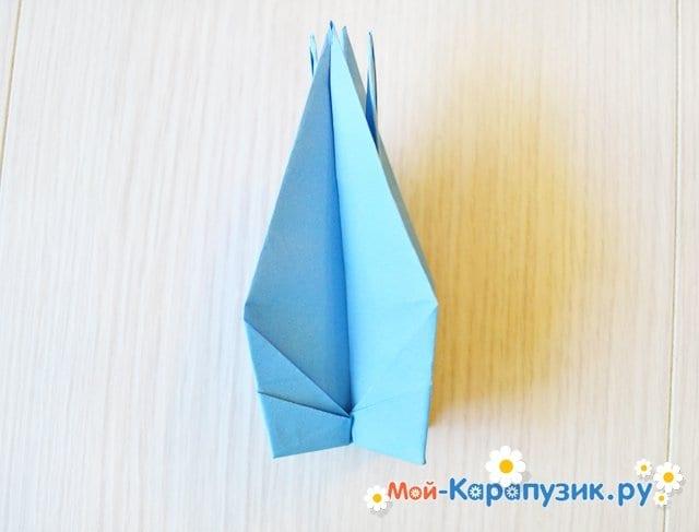 Поделка журавля из бумаги - фото 20