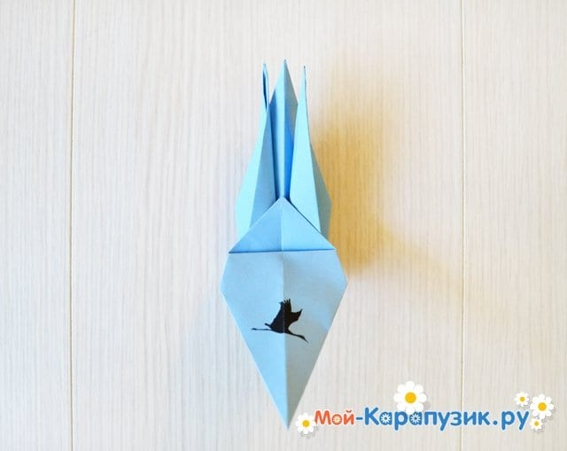 Поделка журавля из бумаги - фото 21