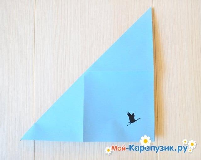 Поделка журавля из бумаги - фото 4