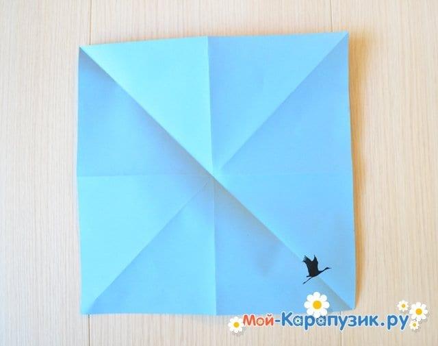 Поделка журавля из бумаги - фото 6