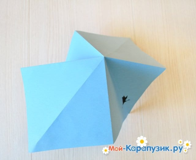 Поделка журавля из бумаги - фото 7