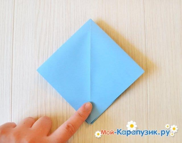 Поделка журавля из бумаги - фото 8