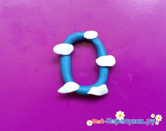 Лепка букв из пластилина - фото 11