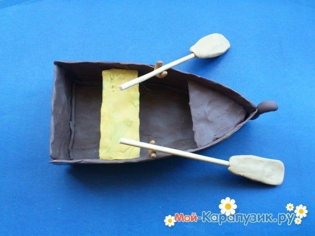 Лепка лодки из пластилина - фото 10