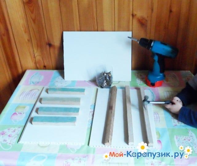 Поделка деревянной кормушки для птиц - фото 1
