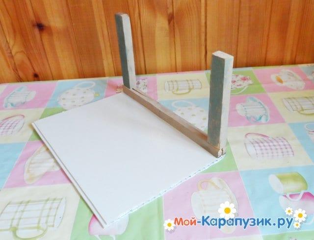 Поделка деревянной кормушки для птиц - фото 2