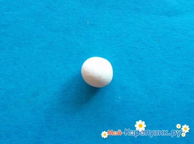 Лепка лебедя из пластилина - фото 2