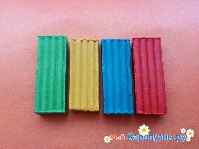 Лепка лего из пластилина - фото 1