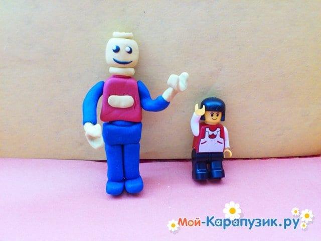 Лепка лего из пластилина - фото 11