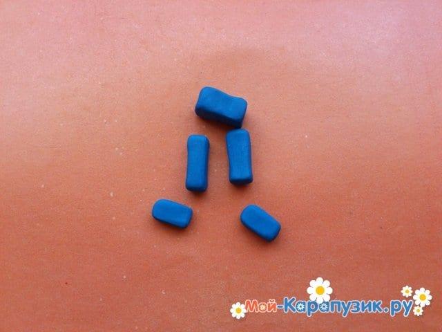 Лепка лего из пластилина - фото 6
