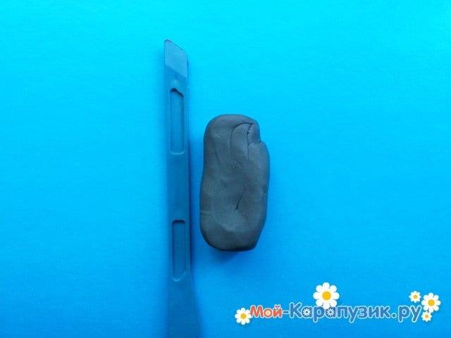 Лепка рыцаря из пластилина - фото 1