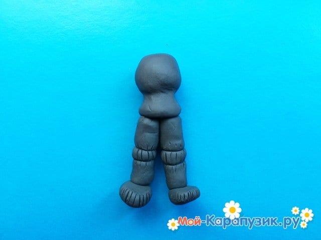 Лепка рыцаря из пластилина - фото 5