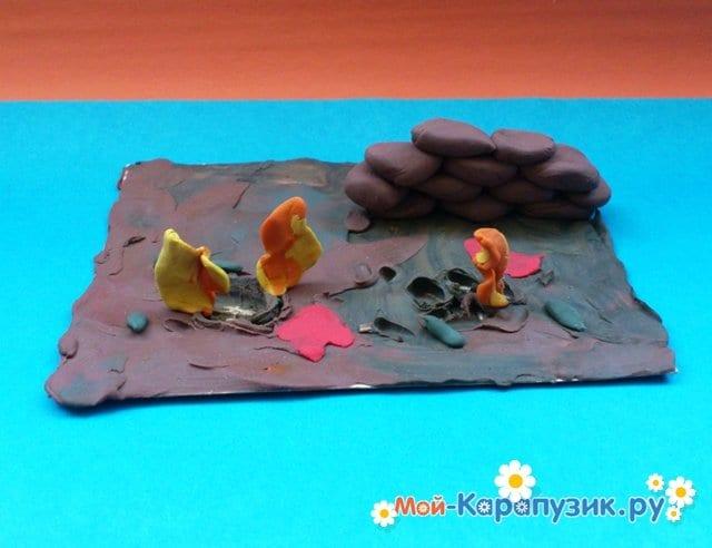 Лепка войны из пластилина - фото 4