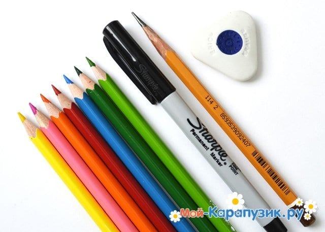 Поэтапное рисование лета цветными карандашами - фото <i>рисунок мое лето карандашом поэтапно для начинающих</i> 1