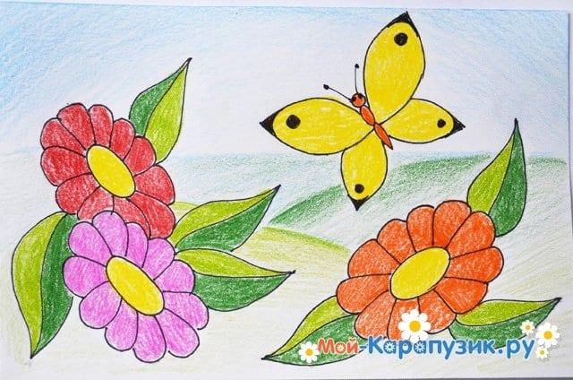 Поэтапное рисование лета цветными карандашами - фото 17