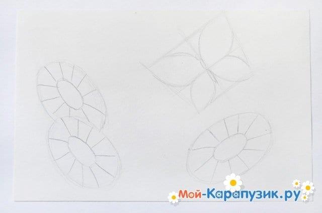 Поэтапное рисование лета цветными карандашами - фото 6