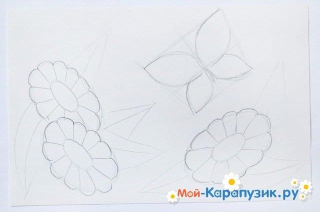 Поэтапное рисование лета цветными карандашами - фото 7