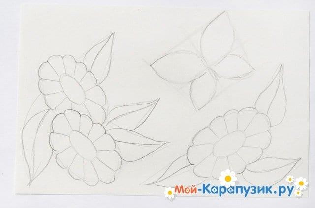 Поэтапное рисование лета цветными карандашами - фото 8