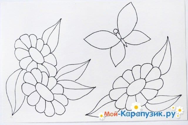 Поэтапное рисование лета цветными карандашами - фото 9