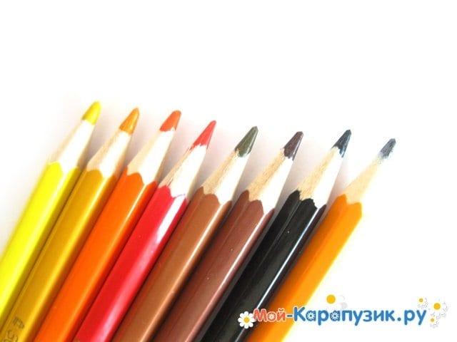 Поэтапное рисование огня цветными карандашами - фото 1