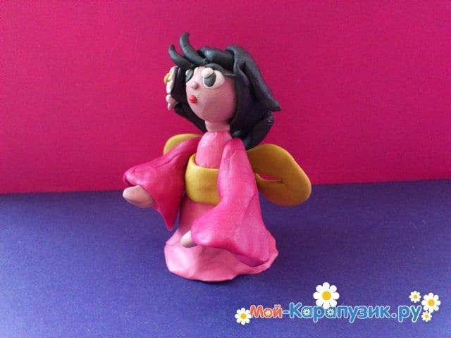 Лепка куклы из пластилина - фото 10