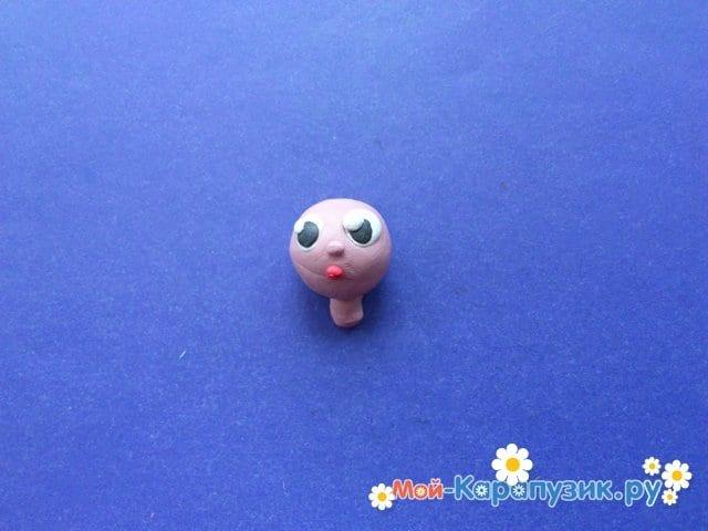 Лепка куклы из пластилина - фото 4