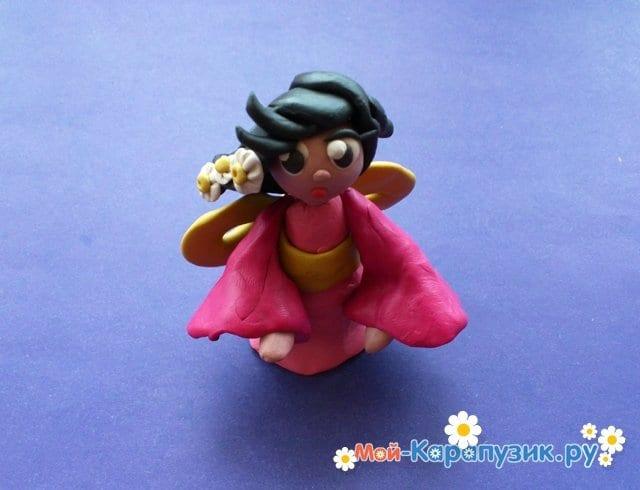 Лепка куклы из пластилина - фото 6