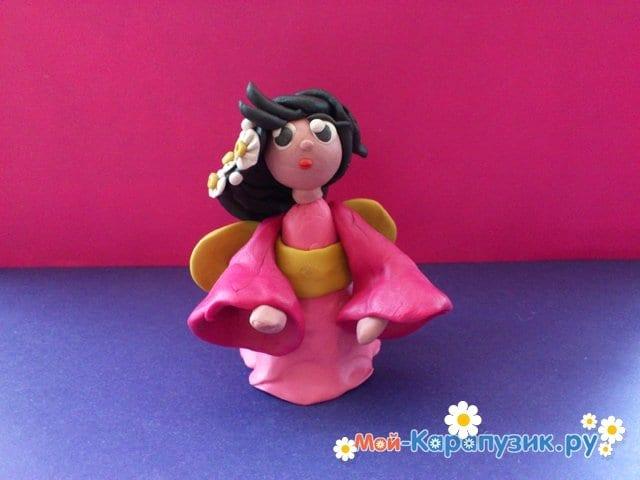 Лепка куклы из пластилина - фото 7