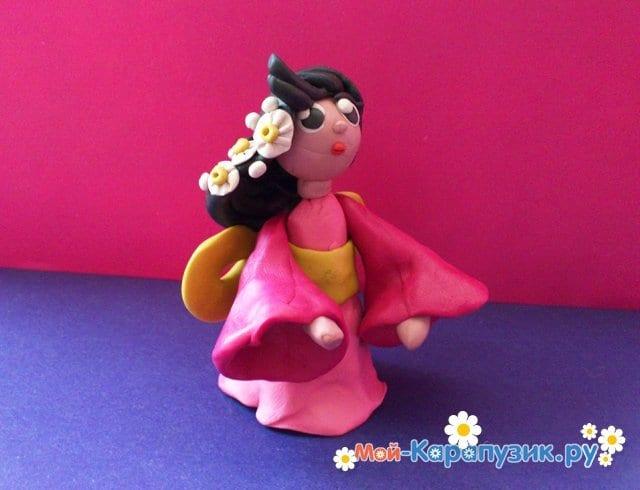 Лепка куклы из пластилина - фото 8