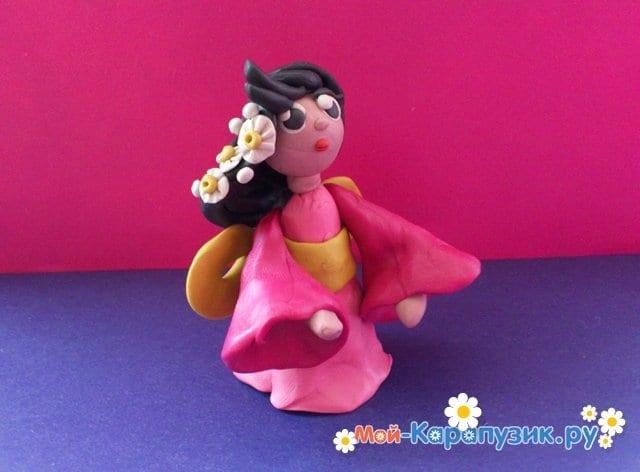 Лепка куклы из пластилина - фото 9