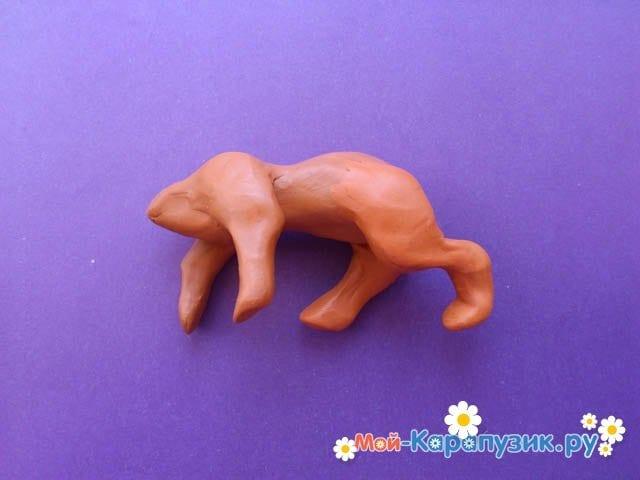Пошаговая лепка леопарда из пластилина - фото 7