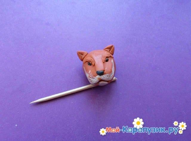 Пошаговая лепка леопарда из пластилина - фото 9