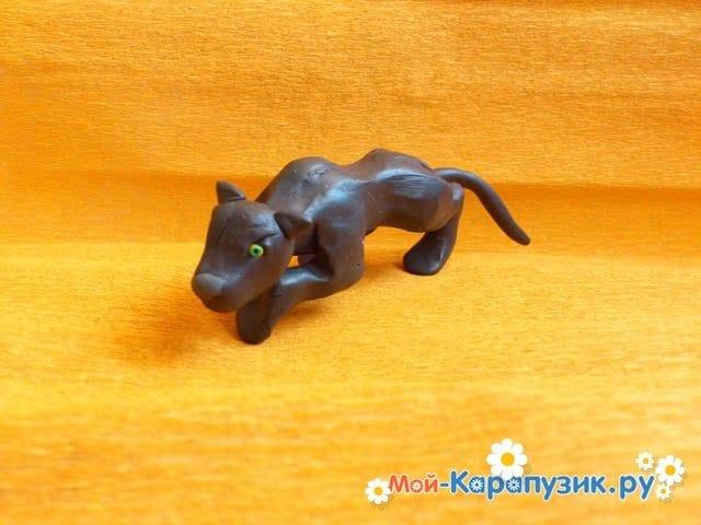 Лепка пантеры из пластилина - фото 11