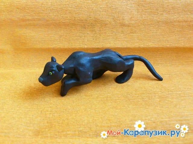 Лепка пантеры из пластилина - фото 12