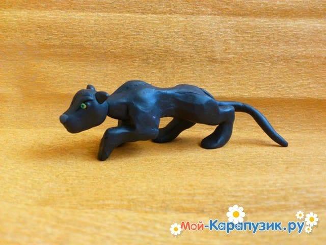 Лепка пантеры из пластилина - фото 13
