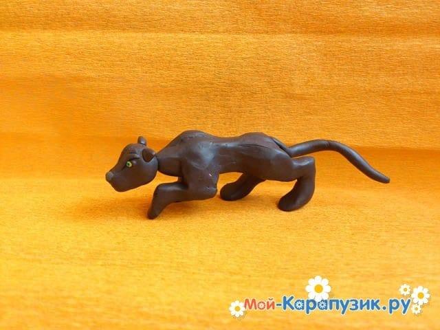 Лепка пантеры из пластилина - фото 9