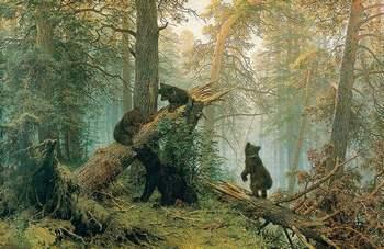 """Картина Шишкина """"Утро в сосновом лесу"""""""