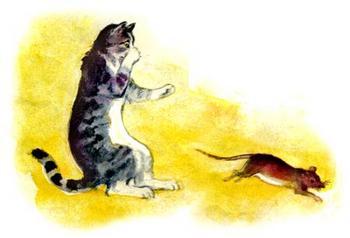 """Сказка """"Кошка и мышка"""""""