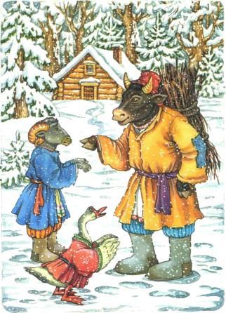 """Сказка """"Зимовье зверей"""""""