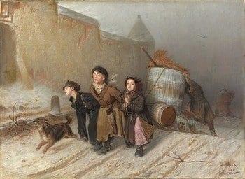 Картина В. Г. Перова «Тройка»