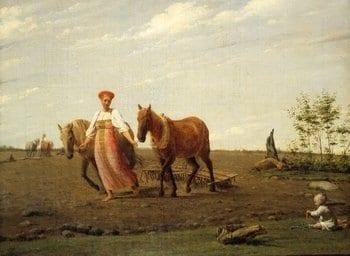 Картина Алексея Венецианова «На пашне. Весна».