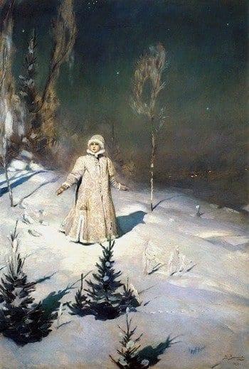 Картина Васнецова «Снегурочка»